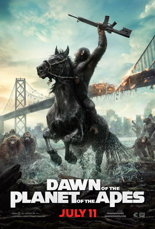 And the Apes Come Marching in! - New 'Dawn of the Planet of the Apes' Poster