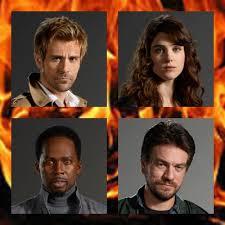 Matt Ryan (John Constantine), Lucy Griffiths (Liv Aberdine), Harold Perrineau (Manny), Charles Harford (Chas)