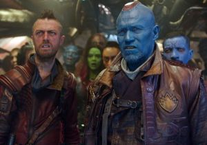 Yondu (Michael Rooker) and Kraglin (Sean Gunn)