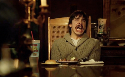 Justin Long being terrified.