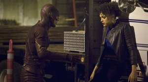 The Flash (Grant Gustin) vs Peek-a-Boo (Britne Oldford)