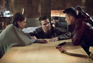 Thea, Oliver and Roy talking about the birds and the bees