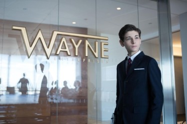 David Mazouz as Bruce Wayne.