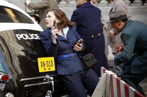 Peggy (Hayley Atwell) protecting the citizens of America!