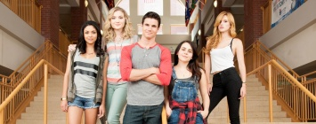Bianca Santos, Skyler Samuels, Robbie Amell, Mae Whitman and Bella Thorne comprise the cast of 'The DUFF'.